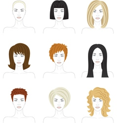 Woman hairstyle set vector