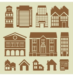 Set of houses icons vector