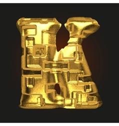 Golden letter k vector