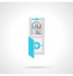 Water cooler flat icon vector