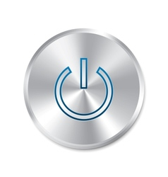 Power on button turn on round sticker vector