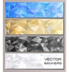 Set of banners with geometric pattern vector