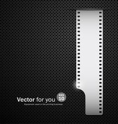 Camera film roll silver background vector