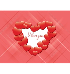 Red romantic card - i love you vector