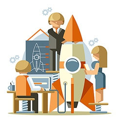 Office startup vector