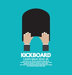 Kick board swimming support equipment vector