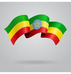 Ethiopian waving flag vector