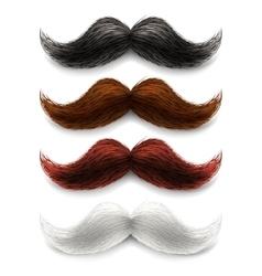 Fake moustaches color set vector