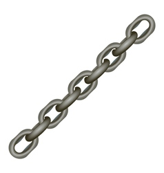 Metallic chain on white vector