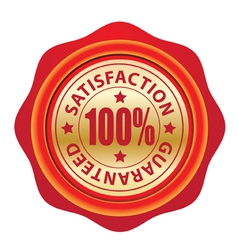 Wax seal guarantee vector