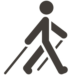 Nordic walking icon vector
