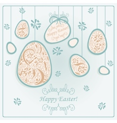 Card with easter eggs vector