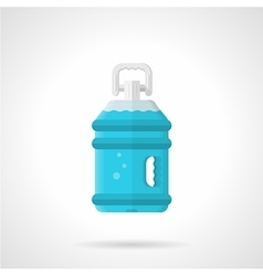 Bottled water flat icon vector