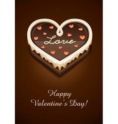 Sweet chocolate cake vector