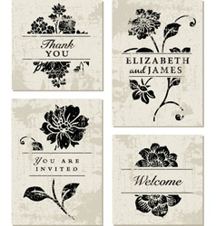 Modern floral template vector
