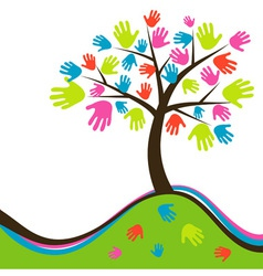 Decorative abstract hand tree vector