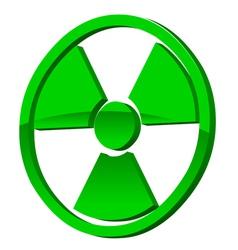 Radioactive 3d icon vector