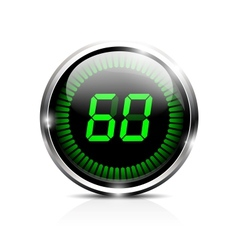 Electronic timer 60 seconds vector