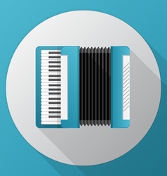 Flat icon for blue accordion vector