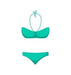 Women girl swim suit vector