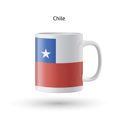 Chile flag souvenir mug on white background vector
