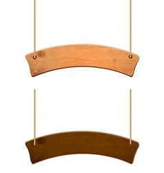 Wooden sign set vector