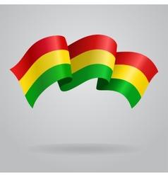 Bolivian waving flag vector