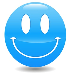 Blue smile vector