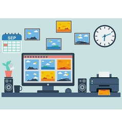 Home workplace vector