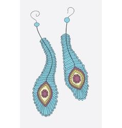 Hand drawn earrings vector