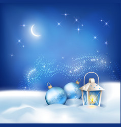 Abstract winter night background vector