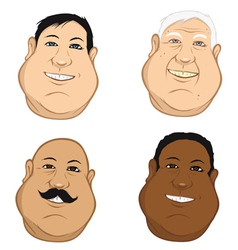 Male heads fat vector