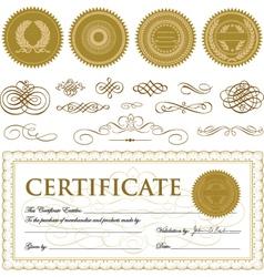 Formal certificate template vector