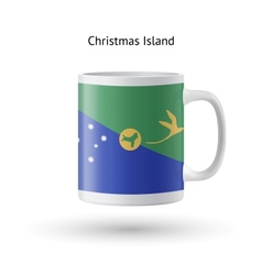 Christmas island flag souvenir mug on white vector