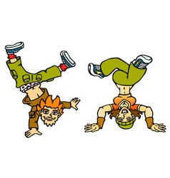 Couple breakdancers vector