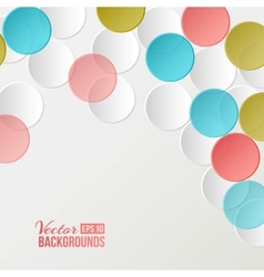 Confetti backdrop vector