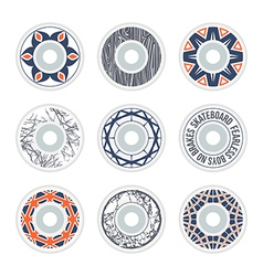 Design skateboard wheels vector