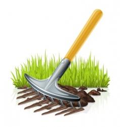 Garden rake vector