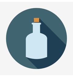 Bottle icon with long shadow vector