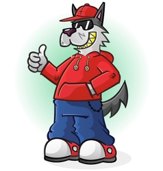 Big bad wolf cartoon character vector