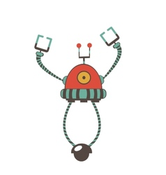 Colorful robot character vector