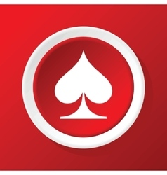 Spades icon on red vector