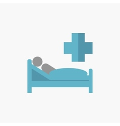 Patient flat icon vector