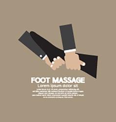 Foot massage relaxing vector