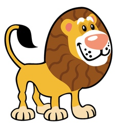 Simple childish lion vector