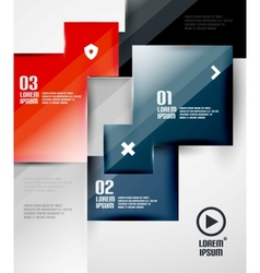 Modern glossy square infographics vector