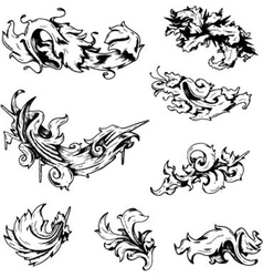 Baroque decorations vector