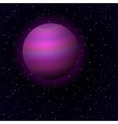 Cartoon jupiter in open space vector