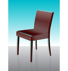 Modern dining chair red vector