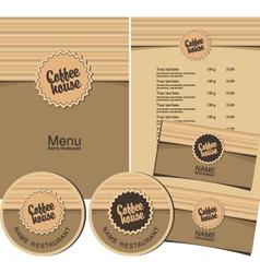 Coffee house menu vector